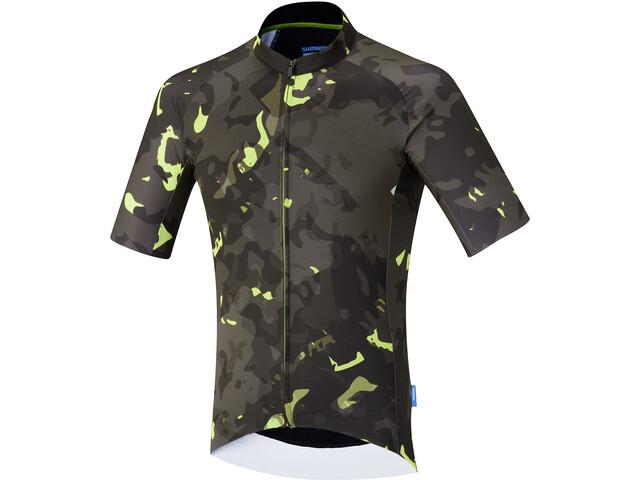 Shimano Breakaway Maglietta a maniche corte Uomo, neon lime